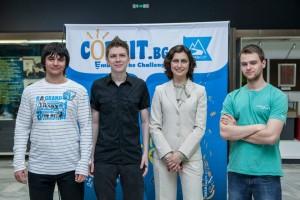 Елена Маринова, екипът на CodeIT и полски ИТ гуру